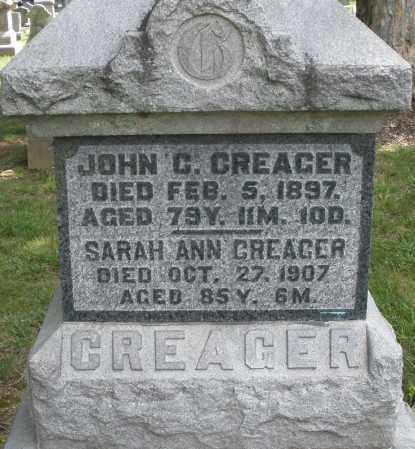 CREAGER, SARAH ANN - Montgomery County, Ohio | SARAH ANN CREAGER - Ohio Gravestone Photos