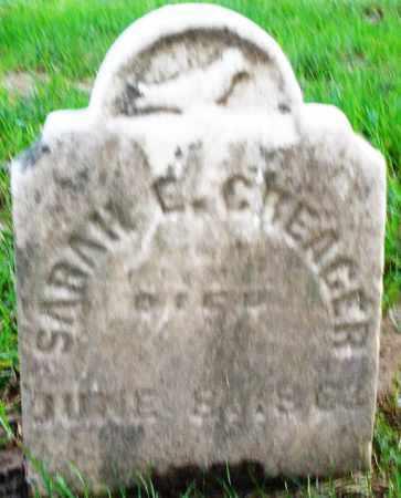 CREAGER, SARAH E. - Montgomery County, Ohio | SARAH E. CREAGER - Ohio Gravestone Photos