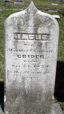 CRIDER, JACOB - Montgomery County, Ohio | JACOB CRIDER - Ohio Gravestone Photos