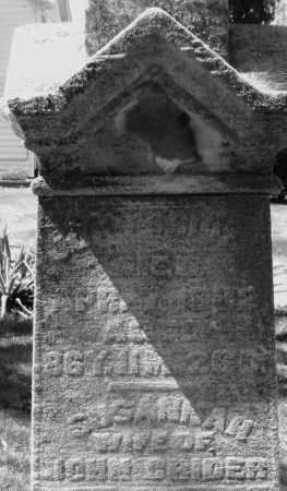 CRIDER, SUSANNAH - Montgomery County, Ohio | SUSANNAH CRIDER - Ohio Gravestone Photos