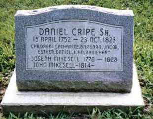 CRIPE, DANIEL, SR. - Montgomery County, Ohio | DANIEL, SR. CRIPE - Ohio Gravestone Photos