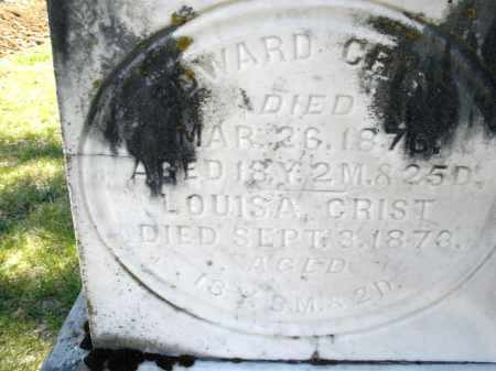 CRIST, EDWARD - Montgomery County, Ohio | EDWARD CRIST - Ohio Gravestone Photos