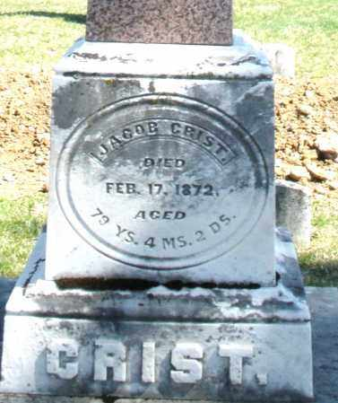 CRIST, JACOB - Montgomery County, Ohio | JACOB CRIST - Ohio Gravestone Photos
