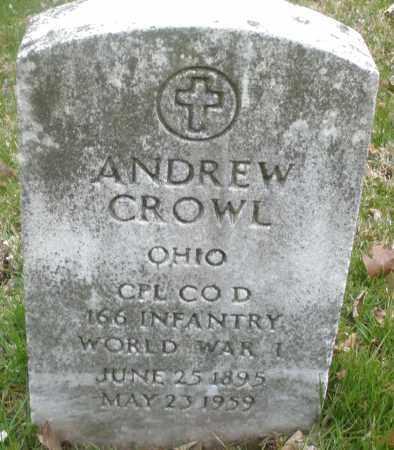 CROWL, ANDREW - Montgomery County, Ohio | ANDREW CROWL - Ohio Gravestone Photos