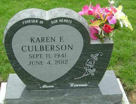 CULBERSON, KAREN F - Montgomery County, Ohio | KAREN F CULBERSON - Ohio Gravestone Photos
