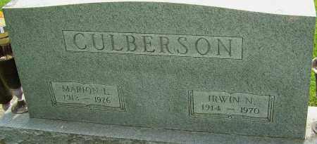 CULBERSON, MARION L - Montgomery County, Ohio | MARION L CULBERSON - Ohio Gravestone Photos