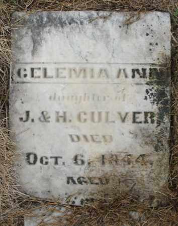 CULVER, GELEMIA ANN - Montgomery County, Ohio | GELEMIA ANN CULVER - Ohio Gravestone Photos