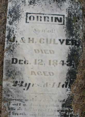 CULVER, ORRIN - Montgomery County, Ohio | ORRIN CULVER - Ohio Gravestone Photos