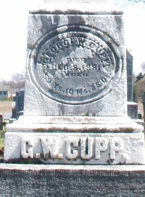 CUPP, GEORGE W. - Montgomery County, Ohio | GEORGE W. CUPP - Ohio Gravestone Photos