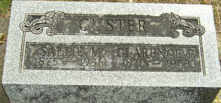 CUSTER, SALLIE M - Montgomery County, Ohio | SALLIE M CUSTER - Ohio Gravestone Photos