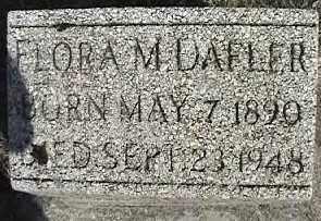 DAFLER, FLORA M - Montgomery County, Ohio | FLORA M DAFLER - Ohio Gravestone Photos