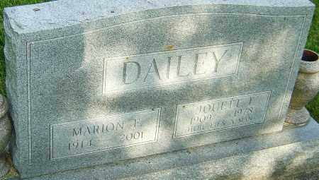DAILEY, MARION F - Montgomery County, Ohio | MARION F DAILEY - Ohio Gravestone Photos