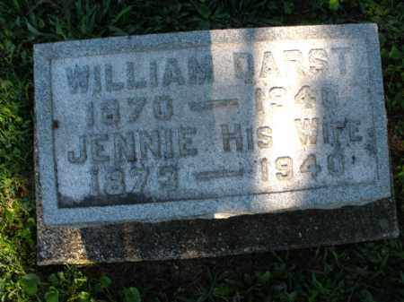 DARST, JENNIE - Montgomery County, Ohio | JENNIE DARST - Ohio Gravestone Photos