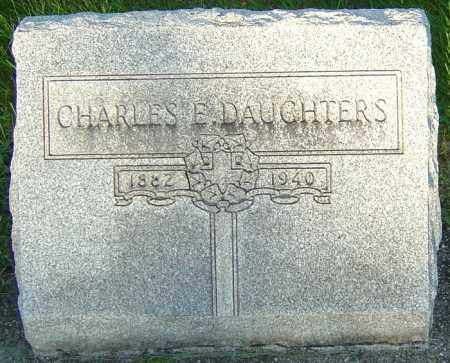 DAUGHTERS, CHARLES E - Montgomery County, Ohio | CHARLES E DAUGHTERS - Ohio Gravestone Photos