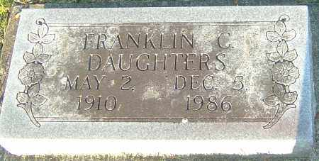 DAUGHTERS, FRANKLIN C - Montgomery County, Ohio | FRANKLIN C DAUGHTERS - Ohio Gravestone Photos