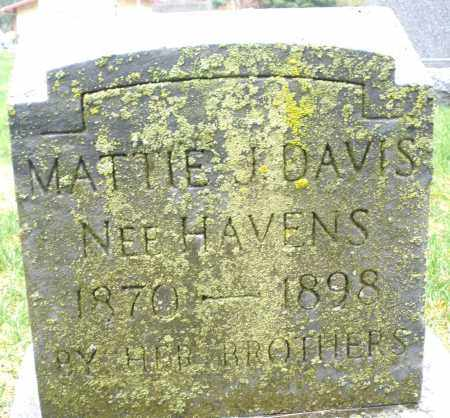 HAVENS DAVIS, MATTIE J. - Montgomery County, Ohio | MATTIE J. HAVENS DAVIS - Ohio Gravestone Photos