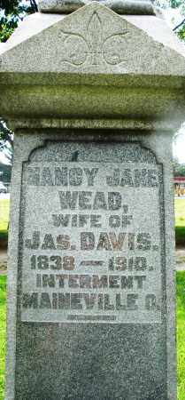 WEAD DAVIS, NANCY JANE - Montgomery County, Ohio | NANCY JANE WEAD DAVIS - Ohio Gravestone Photos