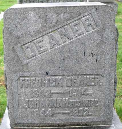 DEANER, FREDRICK - Montgomery County, Ohio | FREDRICK DEANER - Ohio Gravestone Photos
