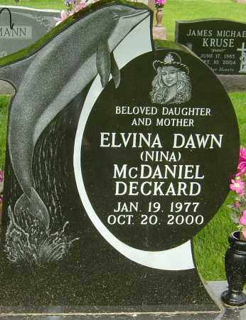MCDANIEL DECKARD, ELVINA DAWN - Montgomery County, Ohio | ELVINA DAWN MCDANIEL DECKARD - Ohio Gravestone Photos