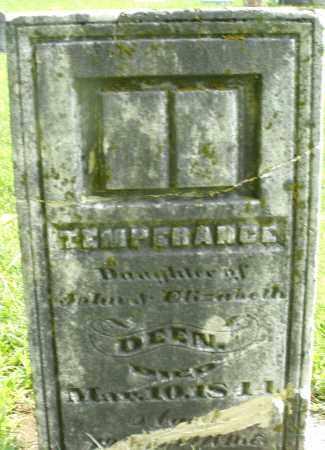 DEEN/DEAN, TEMPERANCE - Montgomery County, Ohio | TEMPERANCE DEEN/DEAN - Ohio Gravestone Photos