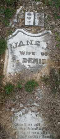DENISE, JANE - Montgomery County, Ohio | JANE DENISE - Ohio Gravestone Photos