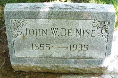DE NISE, JOHN W. - Montgomery County, Ohio | JOHN W. DE NISE - Ohio Gravestone Photos