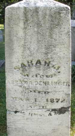DENLINGER, SARAH - Montgomery County, Ohio | SARAH DENLINGER - Ohio Gravestone Photos
