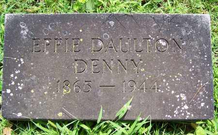 DENNY, EFFIE - Montgomery County, Ohio | EFFIE DENNY - Ohio Gravestone Photos