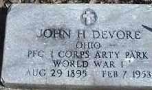 DEVORE, JOHN H. - Montgomery County, Ohio | JOHN H. DEVORE - Ohio Gravestone Photos