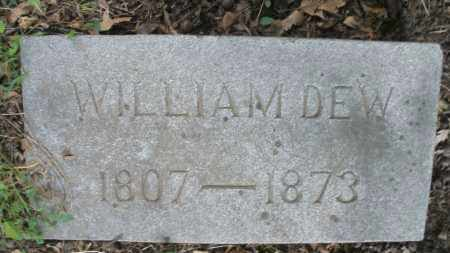 DEW, WILLIAM - Montgomery County, Ohio | WILLIAM DEW - Ohio Gravestone Photos
