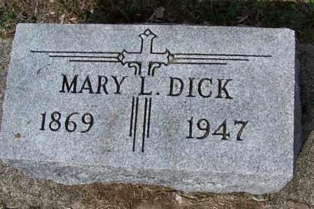 DICK, MARY L. - Montgomery County, Ohio | MARY L. DICK - Ohio Gravestone Photos