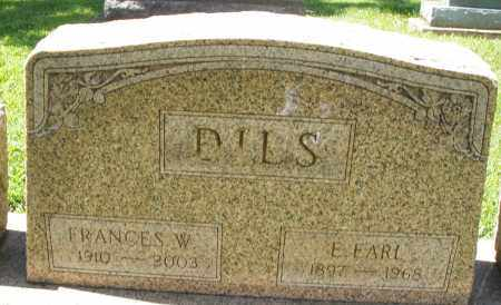 DILS, FRANCES W. - Montgomery County, Ohio | FRANCES W. DILS - Ohio Gravestone Photos