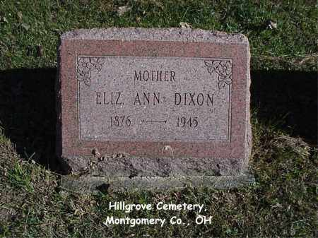 SHOOK DIXON, ELIZABETH - Montgomery County, Ohio | ELIZABETH SHOOK DIXON - Ohio Gravestone Photos