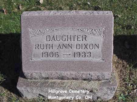 DIXON, RUTH - Montgomery County, Ohio | RUTH DIXON - Ohio Gravestone Photos
