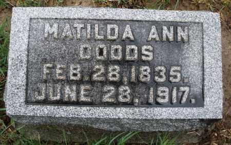 DODDS, MATILDA ANN - Montgomery County, Ohio | MATILDA ANN DODDS - Ohio Gravestone Photos