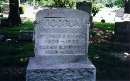 DODSON, SARAH - Montgomery County, Ohio | SARAH DODSON - Ohio Gravestone Photos