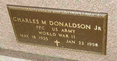 DONALDSON JR, CHARLES M - Montgomery County, Ohio | CHARLES M DONALDSON JR - Ohio Gravestone Photos