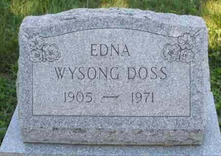WYSONG DOSS, EDNA - Montgomery County, Ohio | EDNA WYSONG DOSS - Ohio Gravestone Photos