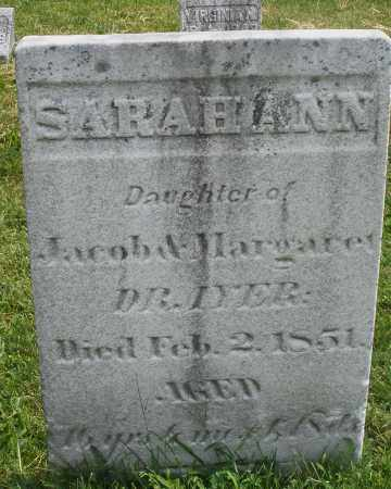 DRAYER, SARAH ANN - Montgomery County, Ohio | SARAH ANN DRAYER - Ohio Gravestone Photos