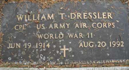 DRESSLER, WILLIAM T. - Montgomery County, Ohio | WILLIAM T. DRESSLER - Ohio Gravestone Photos