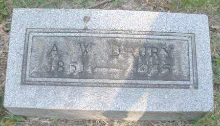 DRURY, A. W. - Montgomery County, Ohio | A. W. DRURY - Ohio Gravestone Photos