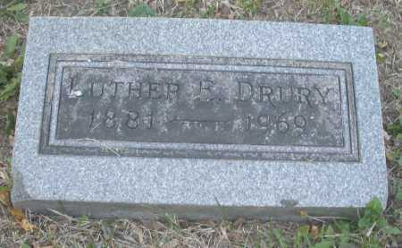 DRURY, LUTHER - Montgomery County, Ohio | LUTHER DRURY - Ohio Gravestone Photos