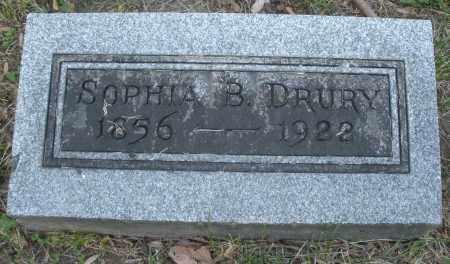 DRURY, SOPHIA B. - Montgomery County, Ohio | SOPHIA B. DRURY - Ohio Gravestone Photos