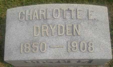 DRYDEN, CHARLOTTE E. - Montgomery County, Ohio | CHARLOTTE E. DRYDEN - Ohio Gravestone Photos
