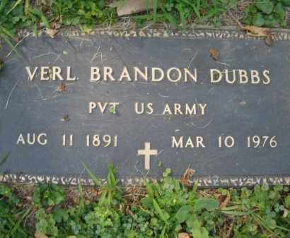 DUBBS, VERL BRANDON - Montgomery County, Ohio | VERL BRANDON DUBBS - Ohio Gravestone Photos
