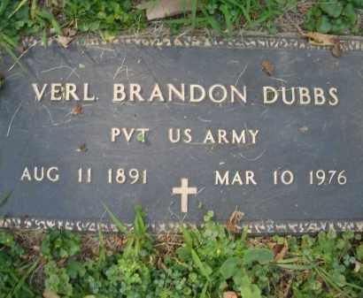 DUBBS, VERL BRANDON - Montgomery County, Ohio | VERL BRANDON DUBBS - Ohio Gravestone Photos