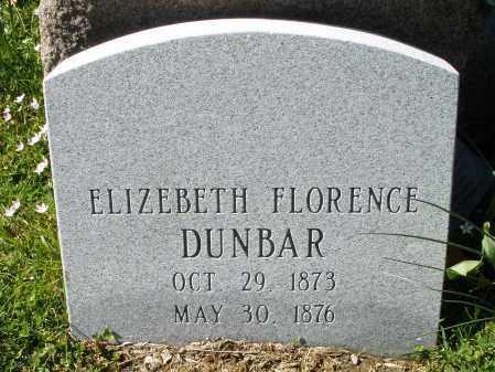 DUNBAR, ELIZEBETH FLORENCE - Montgomery County, Ohio | ELIZEBETH FLORENCE DUNBAR - Ohio Gravestone Photos