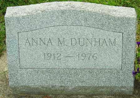 DUNHAM, ANNA M - Montgomery County, Ohio | ANNA M DUNHAM - Ohio Gravestone Photos
