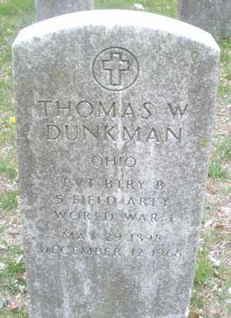 DUNKMAN, THOMAS  W. - Montgomery County, Ohio | THOMAS  W. DUNKMAN - Ohio Gravestone Photos