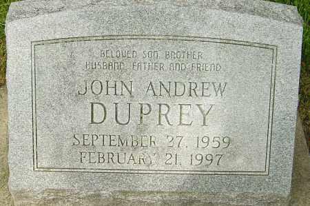 DUPREY, JOHN ANDREW - Montgomery County, Ohio | JOHN ANDREW DUPREY - Ohio Gravestone Photos
